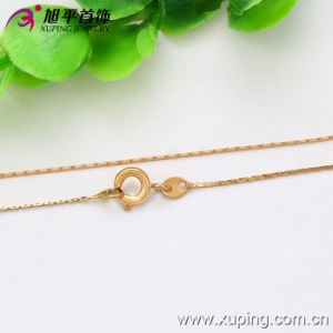 Xuping Fashion 18k Gold Color Thin Necklace (42555) pictures & photos