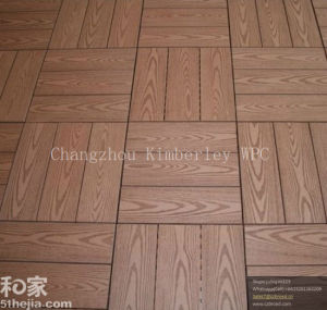 Wood Grain WPC Solid Timber Tile for Garden pictures & photos