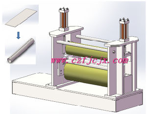 Small Diameter Long Steel Drum Rolling Making Machine with Three Rollers pictures & photos