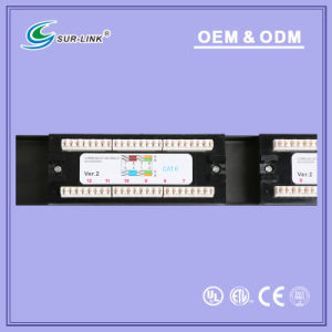 UTP CAT6 12 Port 110 IDC with Back Bar Patch Panel pictures & photos