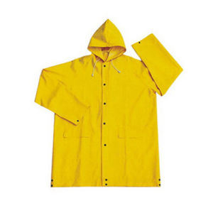 PVC/Polyester/PVC Fire-Resistance Longcoat for Safety Work pictures & photos