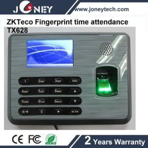 Zkteco Linux Biometric Employee Fingerprint Time Attendance Machine Tx628 pictures & photos