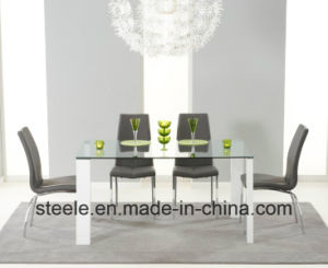 Dining Chair and Glass Dining Table Dining Set