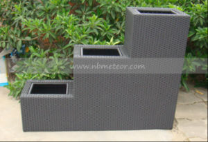 Mtc-120 Outdoor Garden Decoration Rattan Furniture Wicker Flower Pot pictures & photos