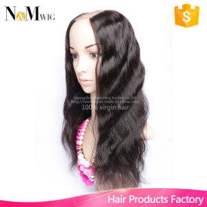 Malaysian U Part Wig Glueless Best Human Hair Quality Cap with Combs and Straps Bleached Knots Lace Wigs pictures & photos