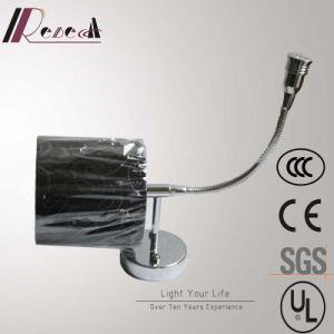 Hotel Decorative Chrome Bedside Wall Lamp with Fabric Shade pictures & photos