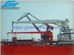 Hydraulic Stiff Boom Cargo Crane pictures & photos