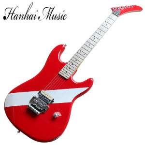 Hanhai Music / Kramer Style Red Electric Guitar with Chrome Hardware pictures & photos
