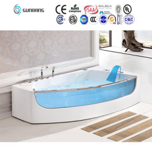 Simple Design Round Whirlpool Massage Bath Tub with Whirlpool (SF5B012) pictures & photos