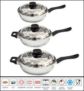6PCS 12-Element T304 Stainless Steel Skillet Set pictures & photos