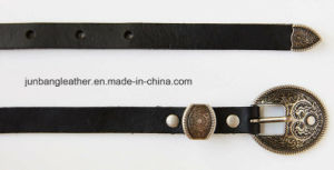 Classic Women Thin Leather Belt in High Quality pictures & photos