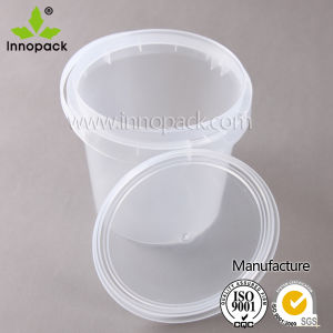 PP Clear Food Grade Plastic Bucket 1 Liter with Lid Wholesale pictures & photos