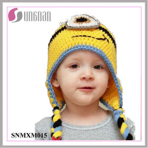 Winter Lovely Minions Hand-Knit Wool Hat Children Ear Hat (SNMXM015) pictures & photos