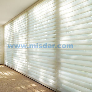 Wireless Remote Motorized Silhouette Blinds pictures & photos