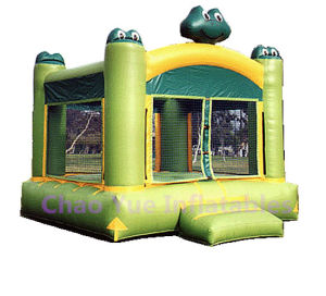 Cute Frog Inflatable Jumping Castle with Bouncy Slide pictures & photos