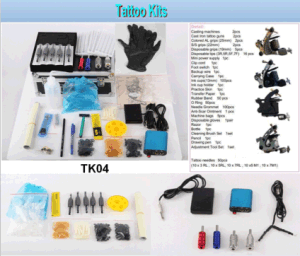Hot Sale Professional Tattoo Kit 4 Machine Guns Tattoo Kit (Tk04) pictures & photos
