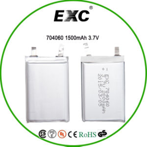 OEM 3.7V 1500mAh Li-Polymer Rechargeable Battery 704060 pictures & photos
