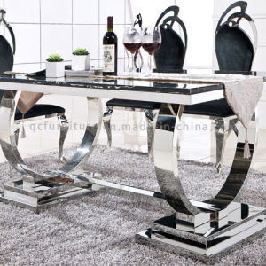 Dining Furniture Marble Dining Table with Metal Leg pictures & photos