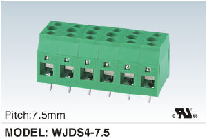 New Products Double PCB Screw Terminal Block 300V/30A (WJDS4-7.5) pictures & photos