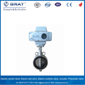 Wafer Stainless Steel Electric Control Butterfly Valve pictures & photos