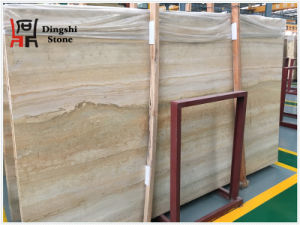 Golden/Beige Wood Vein Travertine Stone for Floor /Wall Tile