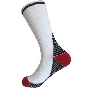 Half Cushion Poly Fashion Stripes Outdoor Sport Socks (JMPOD01) pictures & photos