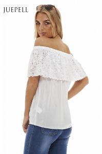 off Shoulder Women Lace Blouse pictures & photos