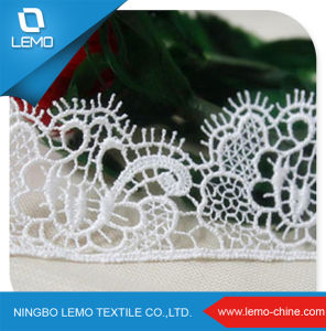 High Quality White Color African Swiss Guipure Chemical Lace pictures & photos