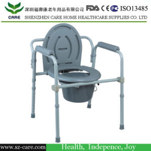 Commode Chair, with Drop-Down Armrest and Lid or Wheel, Toliet Chair