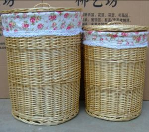 (BC-WB1022) High Quality Handmade Natural Willow Laundry Basket/Gift Basket pictures & photos