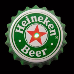 LED Light up Beer Bottle Cap Button Badge (3569) pictures & photos