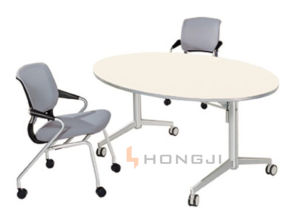 Oval Conference Table, Foldable Training Desk (HD-04B1) pictures & photos