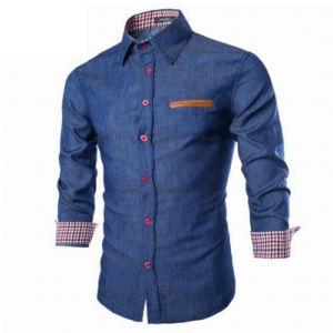 Wholesale Luxury Casual Jeans Slim Fit Denim Shirt pictures & photos