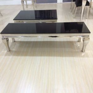 Black Tempered Glass Dining Table pictures & photos