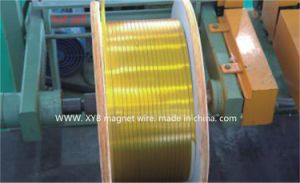 Self-Bonding Glass Covered and Mica Tape Wrapped Rectangular Copper Wire pictures & photos