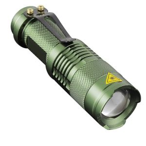 Q5 LED Mini Flashlight Torch 300 Lumens Focus Zoomable Light pictures & photos
