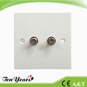 Double Gang Wall Satelite Socket Outlet pictures & photos