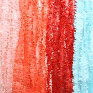 Tissue Paper Fringe Garland. Photo Backdrop. Dessert Backdrop. Light Pink, Coral, Red, Sky Blue Tissue Paper Garlands. Tissue Festooning