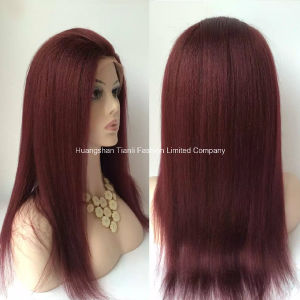 "28"" Straight Untouched Hand-Tide Virgin Hair Full Lace Wig #Red"