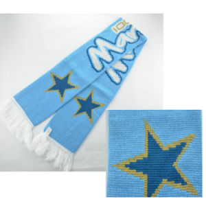 Wholesale Souvenirs Jacquard Soccor Football Team Fan Scarf with Tassel pictures & photos