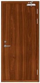 Low Price 90min Wooden Fireproof Door