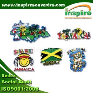 Jamaica Flag Map Shape Rubber Fridge Magnet (FMR 113) pictures & photos