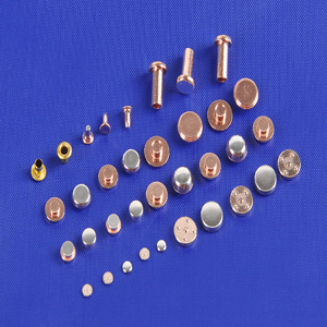 Tri-Metal Silver Copper Alloy Electrical Contacts pictures & photos