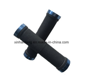 Colorful Plastic and Rubber Bicycle Grips for Mountain Bike (HGP-015) pictures & photos
