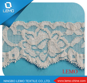 Soft Nylon Spandex Stretch Tricot Lace Fabric pictures & photos
