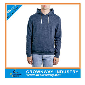 Long Sleeve Blank Fleece Hoodie for Man pictures & photos