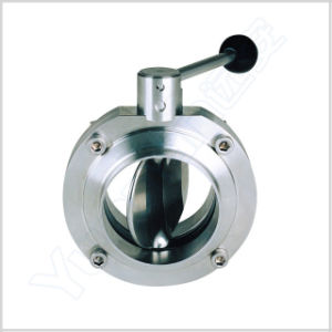 Sanitary Manual Welding Butterfly Valve pictures & photos