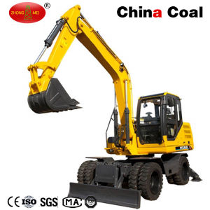 Jhl85 8.5 Ton Wheel Excavator with 0.4 Cubic Bucket pictures & photos