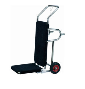 Hotel Stainless Steel Hand Truck Luggage Trolley with Chrome Finish pictures & photos