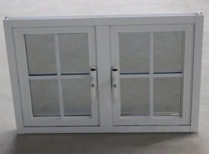 Double Glass with Grid, Powder Coated Aluminium Casement Window K03053 pictures & photos